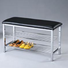 Roundhill Furniture Metal Shoe Bench & Reviews | Wayfair