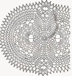 Patrón de carpeta ovalada, con original diseño central para tejer al crochet