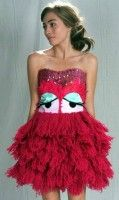 Monster or muppet Halloween costume Worst Prom Dresses, Ugly Dresses, Girls Dresses, Crazy Dresses, Long Dresses, The Dress, Fancy Dress, Strapless Dress Formal, Ugly Wedding Dress