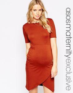 ASOS Maternity Body-Conscious Dress With Asymmetric Hem