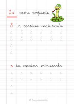 Schede di Pregrafismo delle Lettere dell'Alfabeto da Stampare | PianetaBambini.it