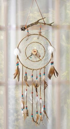 CritterCreekRanch's booth »  Wind Dream Catcher with Antler Horn at Top Native American Western Country Ranch