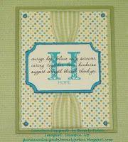 old olive ribbon card