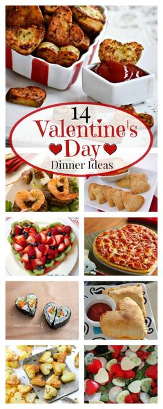 A great way to make the day fun and special for your kids! 14 Valentines Dinner Ideas