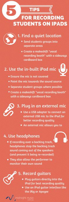 5 Tips for Recording Students on iPads - by Katie Wardrobe, Midnight Music