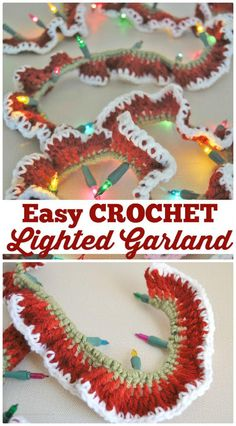 Crochet Lighted Garland Pattern -  Crochet Garland Pattern - 73 Free Crochet Garland Ideas - DIY & Crafts