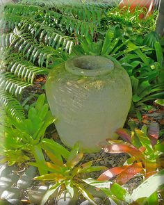 paras stone filter pot Balinese Garden, Garden Accessories, Tropical Garden, Lush, Filter, Gardens, Exterior, Sculpture, Inspired