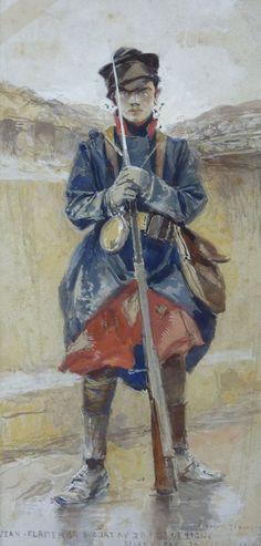 François Flameng – Jean Flameng, soldat au 28ème régiment d'infanterie de ligne, 20 décembre 1914