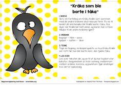 Fortellerkort – Kråka som ble borte i tåka – Begynneropplæring med Runar School Subjects, Second Grade, Grammar, Norway, Preschool, Language, Kraken, Teaching, Education