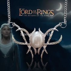 """HOBBIT Queen Galadriel Lord of The Rings Replica Necklace 20"""" Chain Elf LOTR #new #Pendant"""