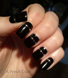 Black and White French Manicure Black French Manicure, French Tip Nail Art, Queen Nails, Red Queen, Short Nails, Nail Polish, Bing Images, Silver, Mood