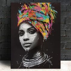 """""""Abstract African Girl With Letters Wall Art Canvas Modern Pop Wall Graffiti Art Paintings Black Woman Cuadros Picture Home Decor"""" African American Art, African Art, African Women, African Culture, Canvas Poster, Canvas Wall Art, Big Canvas, Letter Wall Art, Arte Pop"""