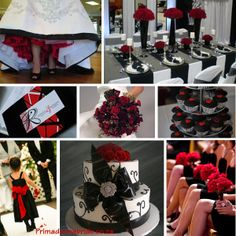 Dramatic Red and Black wedding ideas