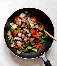 Chili Garlic Beef Stir Fry with Coconut Rice Asian Recipes, Beef Recipes, Cooking Recipes, Healthy Recipes, Coconut Jasmine Rice, Coconut Rice, Beef Stir Fry, Brunch, Chili