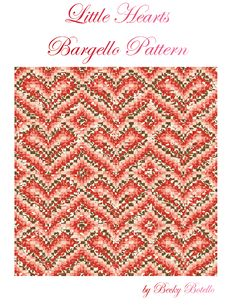 Little Hearts Bargello Quilt Top