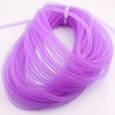 Diameter 8mm Bracelet Mesh Cord Tubing Tube Plastic Net Thread Cord String DIY Jewelry Making Cord Findings JJAL O106
