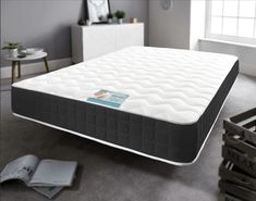 Deep Micro Quilted Memory Wave Mattress double, kingsize, Allergenic provides excellent support for your spine Next Day Delivery. Mattress Springs, Foam Mattress, Super King Mattress, Dreams Beds, Water Bed, Double Beds, Custom Labels, Bed Frame, King Size