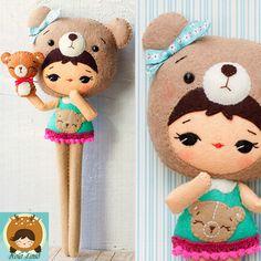 Bear Girl Felt Doll Pattern