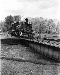 D&RGW #480 entering turntable from north. This might be at Chama before the turntable was removed. D&RGW