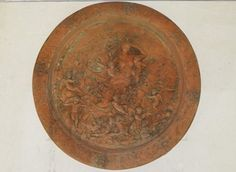 "Cherub Plaque ENGLAND Item Number re-1018 24"" H X 23.5"" W ENGLISH TERRA COTTA"