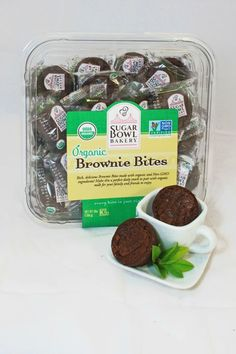 Sugar Bowl Bakery's Organic Brownie Bites- At only 90 calories per serving, go on and have two. Click through to redbookmag.com for more healthy dessert recipes.