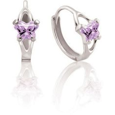 Cute Butterfly Earrings from the Bfly® Birthstone Kids Jewelry Collection. #KidsJewelry