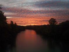 puesta de sol - puesta de sol en el Pisuerga valladolid