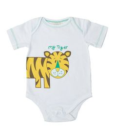 This White 'My Tiger' Organic Bodysuit - Infant is perfect! #zulilyfinds
