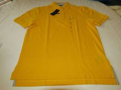 Men's Tommy Hilfiger Polo shirt logo 7884297 Mod Yellow 728 S small* Classic Fit #TommyHilfiger #polo