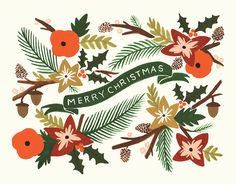 Christmas Garland card by Rifle Paper Co. on Postable.com
