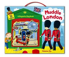 With activities on every page & plenty of room to use their imagination this book is the perfect way for young children to explore iconic London! Contains 16 magnets, 4 play scenes, handle for carrying and plastic storage pocket to store the magnets.  @Carly Persky