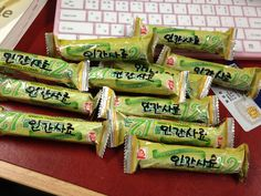 """These are our refreshments. Staffs like these snacks soooo much!!! These are named """"Feed for human"""" in our team. XD"""