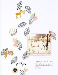 Scrapbook-Layout 'So it goes' I Gossamer Blue October Kits 2016