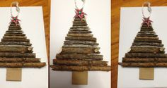 Small Christmas tree made from driftwood or sticks.