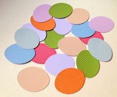 Card Egg Shapes for Craft,Assorted Colours of Polka Dots,100pk £1.30