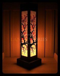 LRB121 Japanese Cherry Blossom Table Lamp Asian Oriental Handmade Decor Gift | eBay