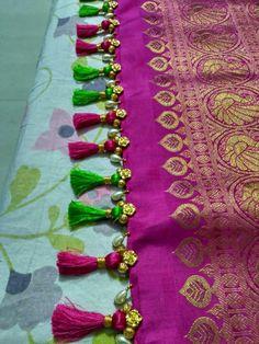 Saree Jacket Designs, Saree Tassels Designs, Saree Kuchu Designs, Sari Blouse Designs, Bridal Blouse Designs, Hand Embroidery, Embroidery Designs, Saree Jackets, Banarsi Saree