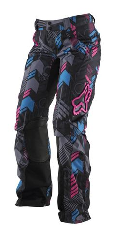 Fox Racing Womens Switch Geo Pants these would be awesome with green insteadof pink Dirt Bike Gear, Motocross Gear, Snowboarding Gear, Dirt Biking, Fox Racing Clothing, Quad, Fox Brand, Riding Gear, Riding Pants
