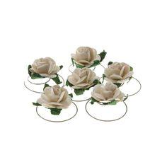 Cream Rose Hair Spinners