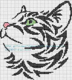 grilles point de croix et cie: 1,2,3.....4 grilles de chat: