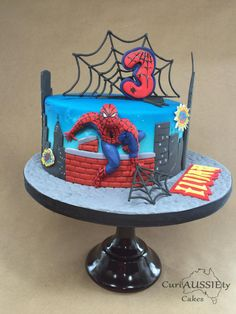 Spiderman cake by curiAUSSIEty custom cakes