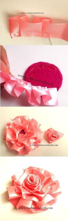 Ribbon Ruffle Flower
