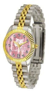 Louisiana State LSU Tigers NCAA Womens Executive Mother-Of-Pearl Watch SunTime. $149.95