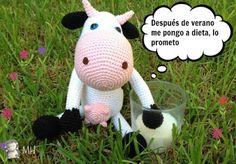 Vaca Amigurumi, Patrón Gratis