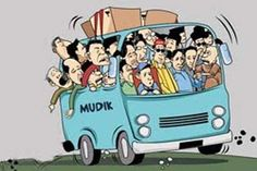 Mudik is a ritual to return home for Indonesian. This usually takes place during the religious festivities, such as Eid and Christmas