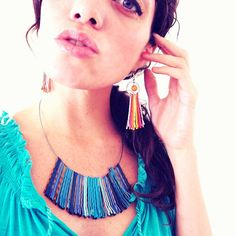 Statement Necklace in Blue Ombre 2014 Trends by BluKatDesign