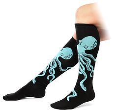 ThinkGeek :: Octopus Knee-high Socks    For someone who likes octopi, especially if they're amazing.