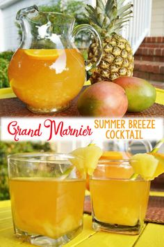 If you ever need a Grand Marnier summer cocktail you'll love this one! The flavors of mango and pineapple paired with the sweetness of Grand Marnier makes this one of the best Grand Marnier drink recipes. Grand Marnier, Gran Marnier Drinks, Sweet Cocktails, Cocktail Drinks, Cocktail Recipes, Party Drinks, Craft Cocktails, Strawberry Banana Milkshake, Strawberry Wine