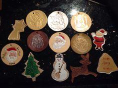 Weihnachtsbaumschmuck aus Leder