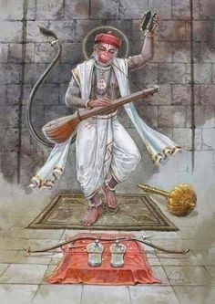 Uncleji is not at all Hanumanji. Because wo aadmi hai. Hanuman Ji Wallpapers, Lord Rama Images, Hanuman Images, Hanuman Pics, Hanuman Chalisa, Hindu Dharma, Lord Vishnu, Lord Durga, Lord Shiva